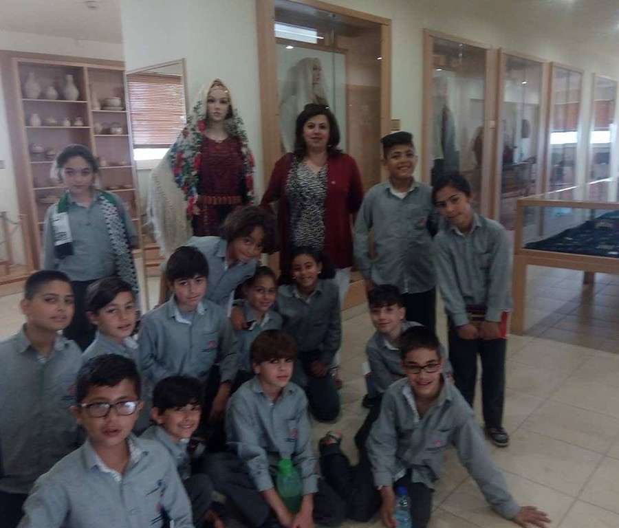 Our 2nd and 4th year students went to the Palestinian Heritage museum in Al Bireh. They enjoyed learning about their heritage.